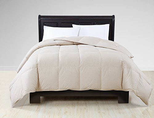 Victoria Full/Queen Size Down Comforter in Khaki Real Dow...