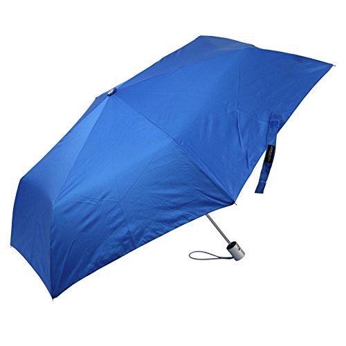 Auto Open and Close, Self Closing, Tiny Mini Umbrella - by London Fog - Blue