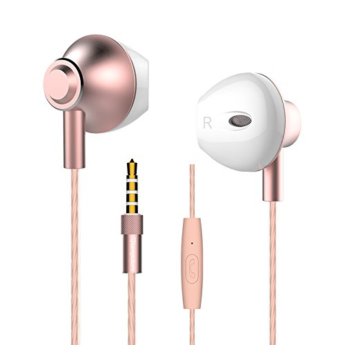 Personalized Rose Gold Earbuds,Langsdom F9 Headphones Powerf