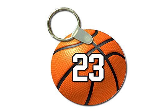 - TYD Designs Key Chain Sports Basketball Customizable 2 Inch Metal and Fully Assembled Ring with Any Team Jersey Player Number 23
