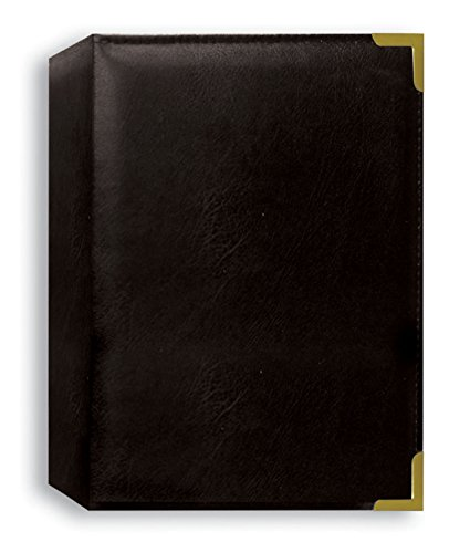 Pioneer Photo Albums 208 Pocket Black Sewn Leatherette Cover with Brass Corner Accents Photo Album, 4 by ()