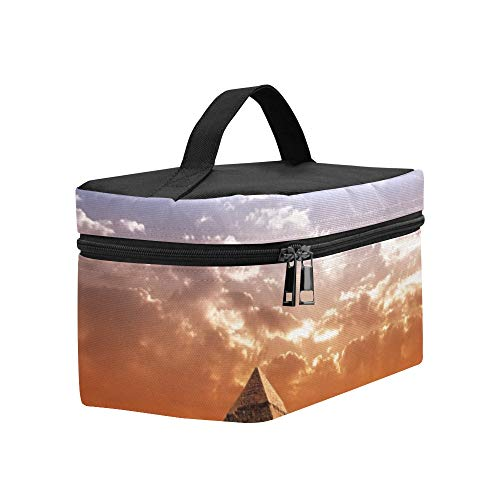 Egypt Pyramid Historic Buildings Panorama Lunch Box Tote Bag Lunch Holder Insulated Lunch Cooler Bag For Women/men/picnic/boating/beach/fishing/school/work