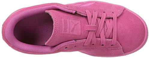 Puma Suede Classsic Badge Ps - Zapatillas de Piel para niño morado cabernet Shocking Pink