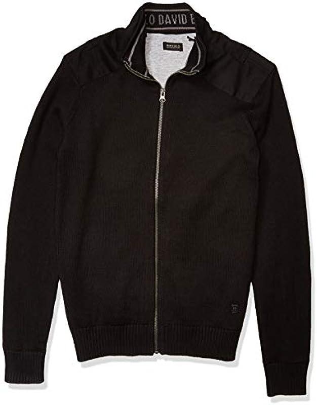 Buffalo Męskie Long Sleeve Zipper Down Silicon Wash Sweater. Pullover: Odzież