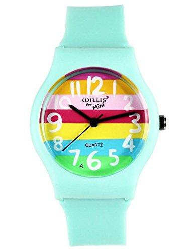 Rainbow Stripe Girls Boys Sport Wrist Watch Great Gifts For Boys Girls - Kids Swatch
