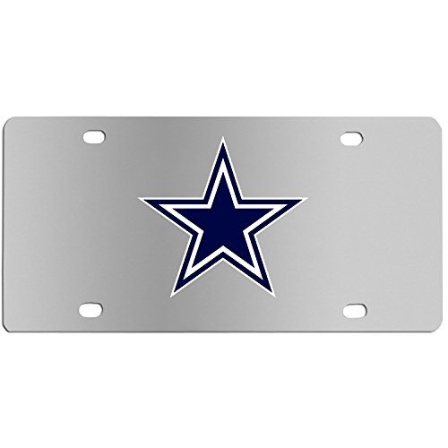 (Siskiyou NFL Dallas Cowboys Steel License Plate with Digital Graphics)