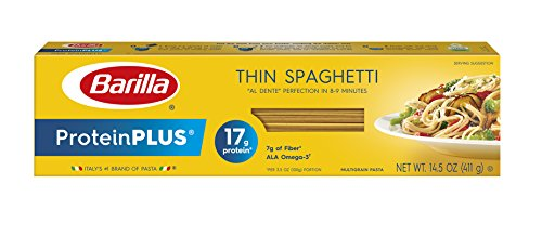 Barilla ProteinPlus Multigrain, Thin Spaghetti, 14.5 Ounce (Pack of 12)