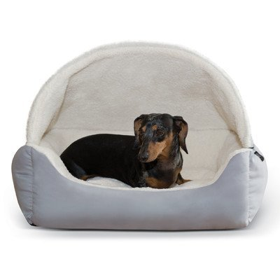 (K&H Pet Products Hooded Lounge Sleeper Pet Bed Gray 20