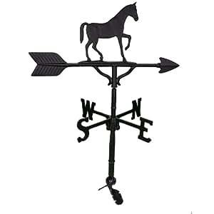 Montague Metal Products 81,3cm Weathervane con negro satinado Gaited figura de caballo
