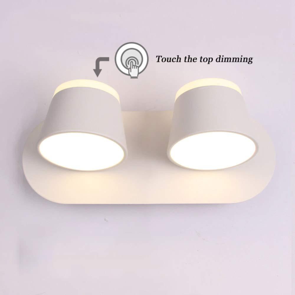 Wandleuchten Aluminium 8W LED Wandleuchte Mit Touch-Schalter 12  12cm,Weiß-2