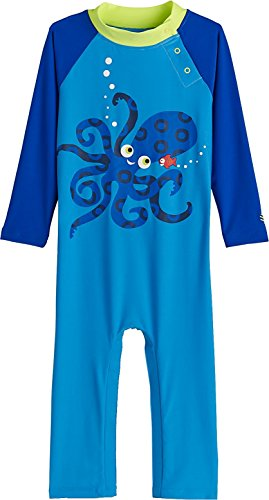 Coolibar UPF 50+ Baby Beach One-Piece Swimsuit - Sun Protective,6-12 Months,Octo-Cutie-Pie