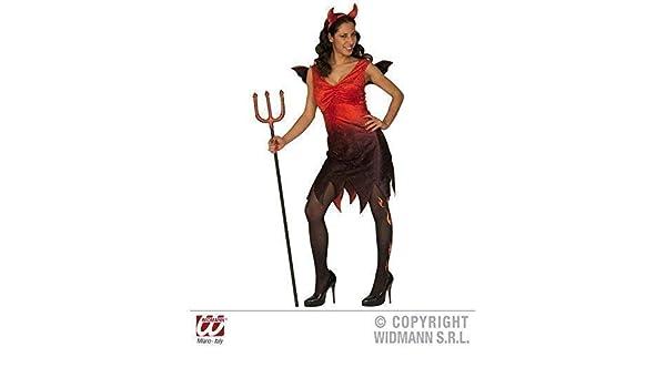 Disfraz de DIABLESA discreto - vestido con alas y cuernos tamaño ...