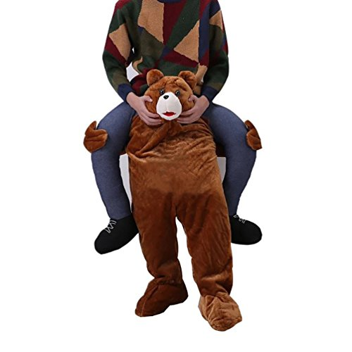 Party City Bunny Costume (Novelty Carry Me Ride on Easter Mascot Costume Animal Funny Fancy Dress Pants-Teddy)