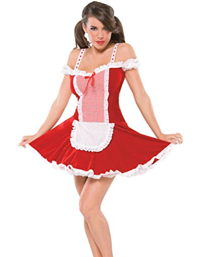 Womens Red Riding Hood Naughty Girl Outfit Fancy Dress Sexy Costume