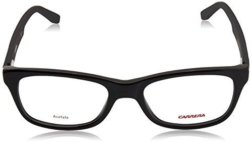 Carrera - CA 6653, Géométriques, acétate, homme, BLACK (KUN), 54/18/145
