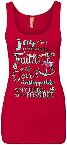 Blessed Tank Top Love Faith Hope Believer Motivation Kindness Sleeveless