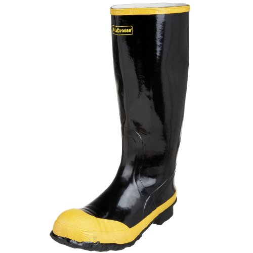 "Steel Toe Rain Boots (LaCrosse Men's Economy Knee 16"" Steel Toe Work Boot,Black,9 M US)"