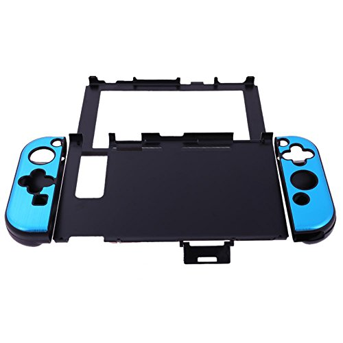 Szjay Aluminum+Plastic Anti-Scratch Dustproof Hard Back Protective Case Cover Shells for Nintendo Switch NS Console with Joy-Con Controller (Sky Blue)
