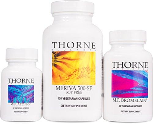 Thorne Research - Nutrigesic Kit - Includes M.F. Bromelain, Melaton-3, and Meriva-500 SF - 240 Capsules
