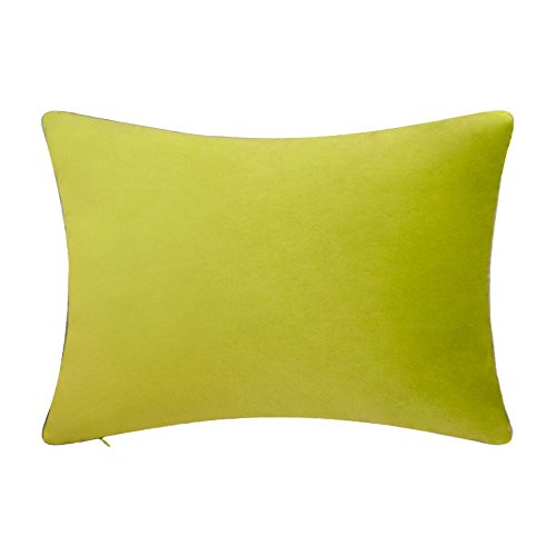 KingRose Soft Solid Velvet Decorative Throw Pillow Cover Luxury Cushion Cover for Bed Living Room Sofa 14 x 24 Inches Green