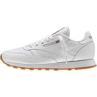 Reebok Women's Classic Leather Sneaker, White/Gum, 5