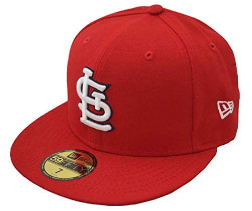 New Era St Louis Cardinals MLB Authentic Collection 59Fifty Cap Red/White Size Fitted 7 (Cardinals Era New 59fifty Cap)