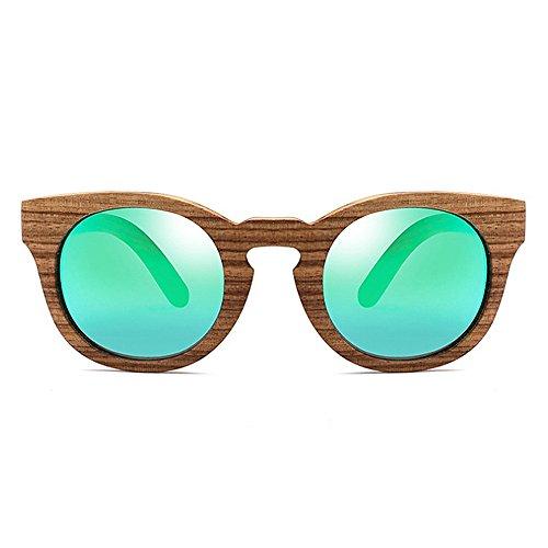 soleil Classique soleil UV les protection de de yeux hommes polarisées cadre bois soleil unisexe de Vert conduite soleil chat soleil en de lunettes Rétro femmes pour lunettes lunettes lunettes lunettes de anB1dwqq8R