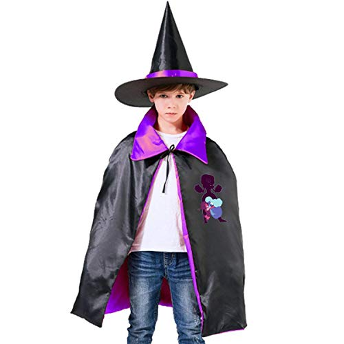 QINWEILU Steven Universe Ruby and Sapphires Unisex Kids Hooded Cloak Cape Halloween Party Decoration Role Cosplay Costumes Outwear
