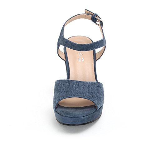 amp;scarpe Scarpe Zeppe Alesya Bleu Donna xOwz5wgq