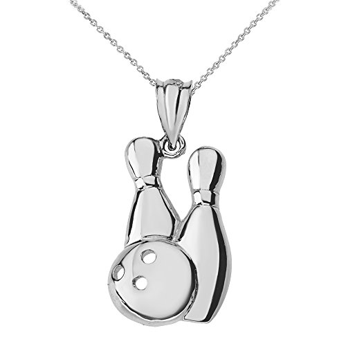 Bowling Pins and Ball Sports Pendant Necklace (18