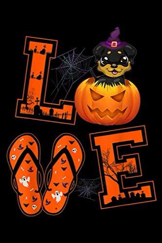 Halloween Chicken Recipe Ideas (LVE: LOVE Rottweiler Pumpkin Halloween idea Halloween Gifts Journal/Notebook Blank Lined Ruled 6x9 100)