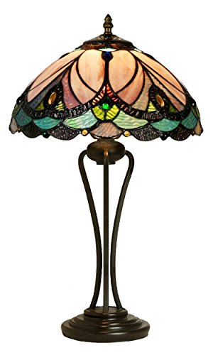 Tiffany Style Table Lamp Desk Lamp 20.5 Inches Height CATANIA Series Home & Office Decor Collection Wilsons Lighting WL123778 (Lamps Tiffany Table Style)