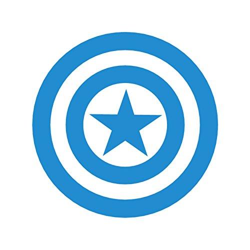 Captain America Shield Logo Marvel Comics Avengers Superhero Blue Vinyl Window Auto Truck SUV Decal Waterproof Bumper Sticker Size: 4.5