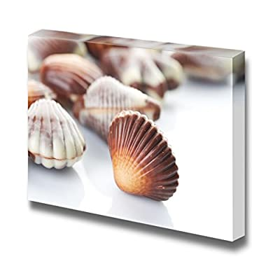 Magnificent Picture, Swiss Chocolate Seashells Isolated on White, Crafted to Perfection