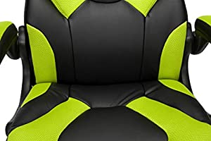 Ofm Racing Style Bonded Leather Gaming Chair In Green Amazon Sg