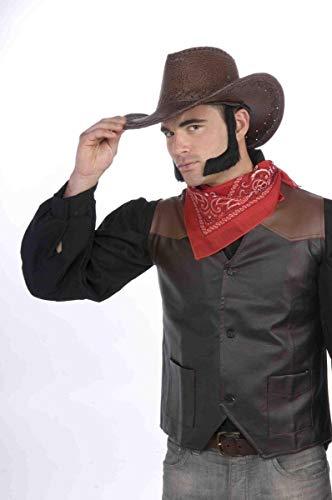 Forum Novelties Men's Novelty Lamb Chop Sideburns, Black, One Size -