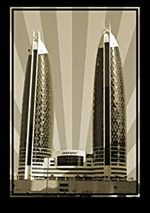 Photo of Damac Tower-Sepia No Text, Print Only (A4)