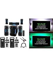 Rockville sistema de cine en casa máquina de karaoke Bluetooth W/20,3cm + LED de subwoofer de