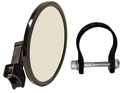 Axia Alloys Black Round Billet Convex Arm Side Mirror - 5