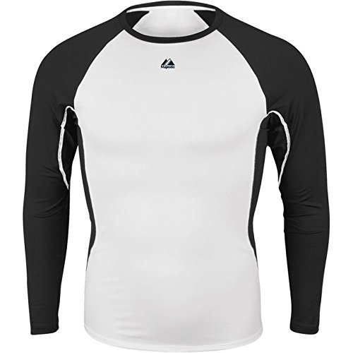 (Majestic Youth Premier Warrior Fitted LS Baselayer White/Black Small)