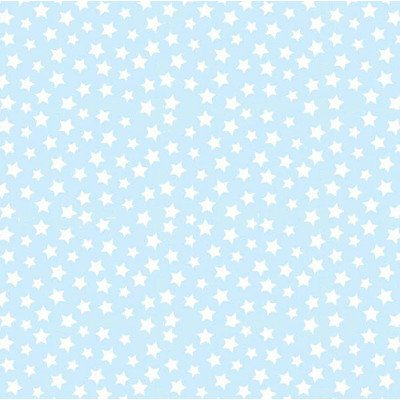 SheetWorld Fitted Portable/Mini Crib Sheet - Stars Pastel Blue Woven - Made In USA
