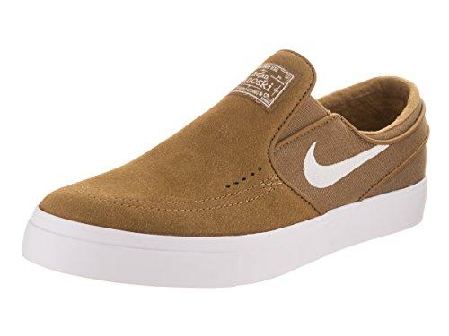 Nike Heren Zoom Stefan Janoski Slip Skate Schoen Beige / Wit
