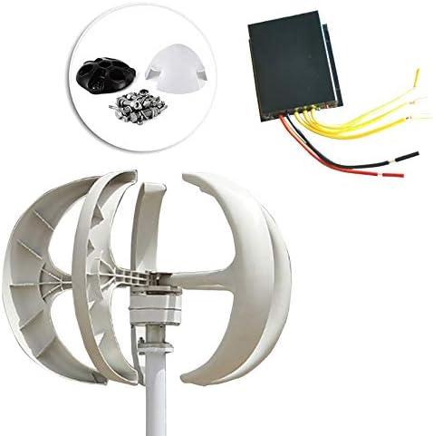 SYN-GUGAI Wind Turbines Nylon Klinge Wind Turbine Generator Weiß Laterne Vertikale Windgenerator 5 Blätter Windturbine Kit Controller Nein Pol (500W ~ 800W) Doppellager,700W-12V