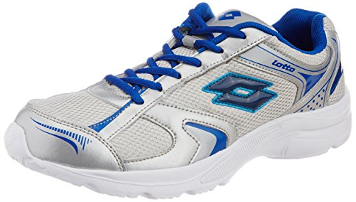 Lotto Men's Trojan Silver and Navy Mesh Running Shoes - 6 UK