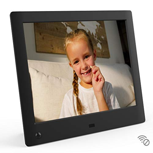NIX Advance 8 Inch USB Digital Photo Frame - IPS Display, Auto-rotate, Motion Sensor, Remote Control - Mix Photos and Videos in the Same Slideshow