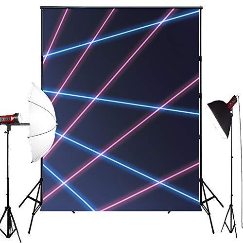 MUZI Photography Backdrops for Laser line Baby Custom Interior Photobooth Background for Studio Props Photo Backdrop 7x5ft XT-5310]()