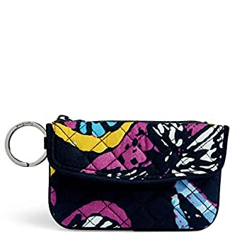 Vera Bradley Iconic Jen Zip ID, Signature Cotton, Butterfly Flutter
