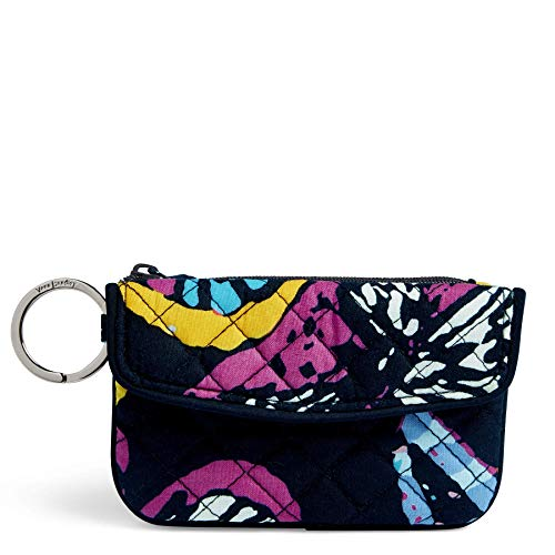 Vera Bradley Iconic Jen Zip ID, Signature Cotton, Butterfly Flutt