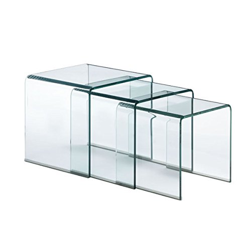 Zuo Explorer Nesting Table Glass, Clear