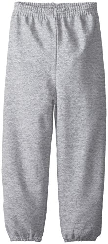 - Hanes Little Boys' Eco Smart Fleece Pant, Light Steel, x Small